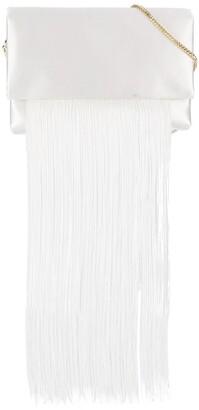 Galvan fringed flap shoulder bag
