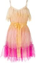 Twin-Set Twin Set lace-trim gradient dress