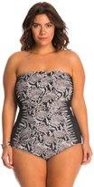 Gottex Plus Size Argento Bandeau One Piece Swimsuit 8140245