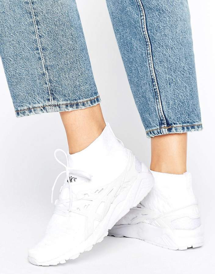 Asics Knit Mid Gel-Kayano Sneakers In White