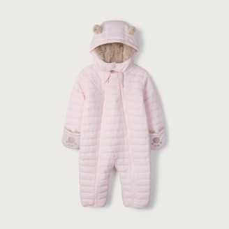 The White Company Pink Quilted Pramsuit, Pink, 3-6mths