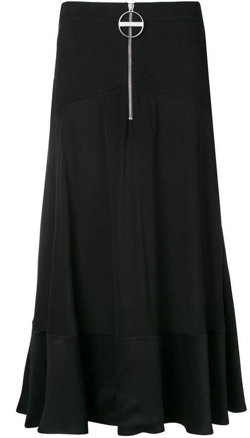 Givenchy ring zip midi skirt