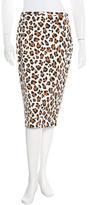 Michael Kors Leopard Print Knee-Length Skirt w/ Tags