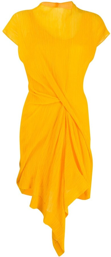 Nina Ricci Draped Front Shift Dress