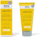 Ren Clean Skincare REN Clean Screen Mineral SPF30 Mattifying Broad Spectrum Face Sunscreen 50ml