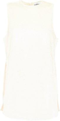 Ganni Sleevlesss Sequins Top