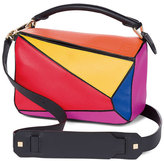 Loewe Puzzle Small Colorblock Satchel Bag