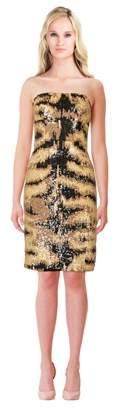 Kaufman Franco KAUFMANFRANCO Sequined Silk Sheath Dress.