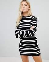 Daisy Street Sweater Dress in Stripe