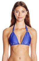 Vix Women's Solid Blue Bia Tube Bikini Top
