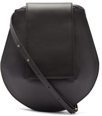 Tsatsas Cy Medium Grained-leather Shoulder Bag - Black
