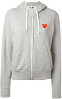 Comme des Garcons embroidered logo hoodie - women - Cotton - XS