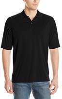 Izod Men's Raglan Tonal Graph Check Polo