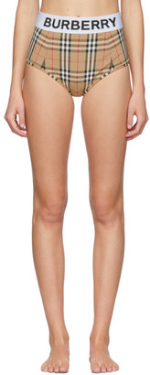 Burberry Beige Tessa High-Waisted Bikini Bottoms