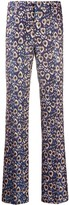 Pt01 peacock feather print trousers
