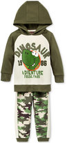 Nannette Baby Boys' 2-Pc. Dinosaur Hoodie & Camo-Print Pants Set