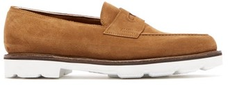 John Lobb Lopez Contrast-sole Suede Loafers - Brown