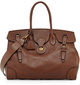 Ralph Lauren Soft Ricky 40 Leather Satchel Bag, Brown