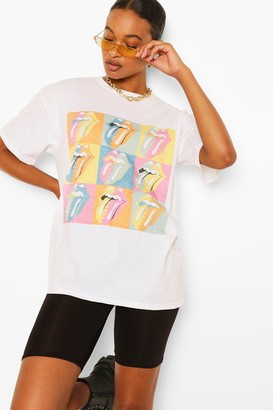boohoo Rolling Stones Lick Licence T-Shirt