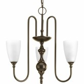 Keanu 3 - Light Shaded Classic / Traditional Chandelier with Crystal Accents Alcott Hill Finish: Antique Bronze
