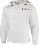 Champion Men's White LSU Tigers Tailgate Packable Half-Zip Jacket