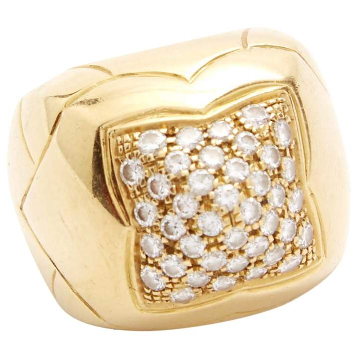 Bulgari Pyramide yellow gold ring