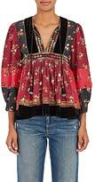 Ulla Johnson Women's Bijana Embroidered Cotton Patchwork Blouse