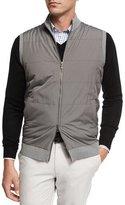 Peter Millar Lenoir Melange Full-Zip Vest, Smoke