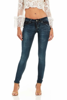 Cover Girl Women's Dark Blue Wash Skinny Jeans Juniors and Plus Size Ultra 18