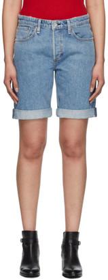 Rag & Bone Blue Misha Mid-Rise Walking Shorts