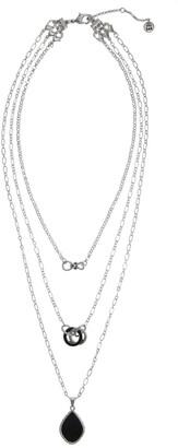 The Sak Layered 3-Row Onyx Pendant Necklace