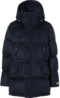 Burberry Cashmere Hooded Puffer Coat