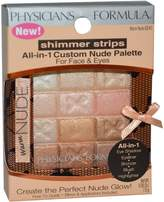 Physicians Formula Physician's Formula, Inc., Shimmer Strips, All-in-1 Custom Nude Palette, Warm Nude, 0.26 oz (7.5 g)