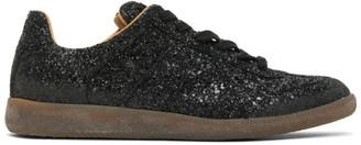 Maison Margiela Black Glitter Replica Sneakers