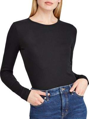 Lauren Ralph Lauren Stretch-Cotton Long-Sleeve Tee
