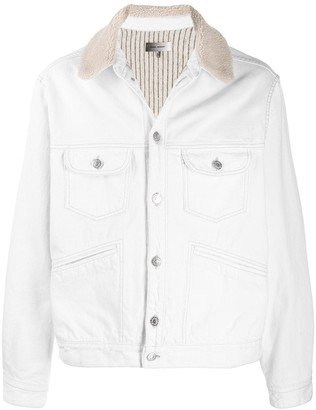Isabel Marant Shearling Collar Denim Jacket