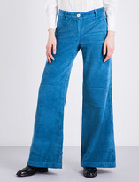 Masscob Flared high-rise corduroy trousers
