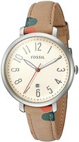 Fossil Women's ES4133 Jacqueline Three-Hand Date Polka Dot Leather Watch