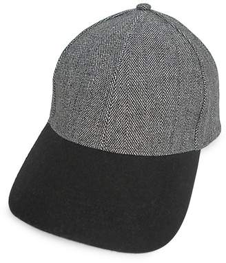 London Fog Herringbone Baseball Cap
