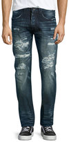 PRPS Demon Distressed Technics Denim Jeans, Dark Indigo