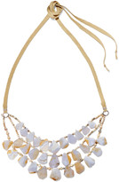Chan Luu Woven bead and stone necklace
