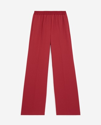 The Kooples Formal burgundy trousers in flowing fabric