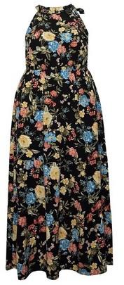 Dorothy Perkins Womens Dp Curve Multi Colour Floral Maxi Dress, Multi Colour