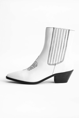 Zadig & Voltaire Tylor Grained Ankle Boots