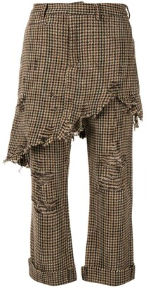 R 13 Double Classic Houndstooth Trouser