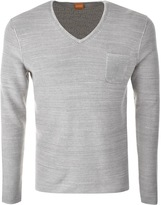 BOSS ORANGE HUGO Akatus Jumper Grey