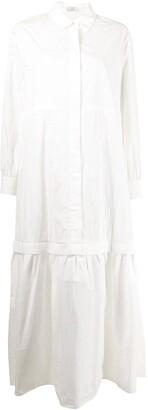 Co Drop-Waist Long Shirt Dress