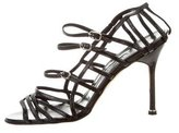Manolo Blahnik Patent Leather Multistrap Sandals