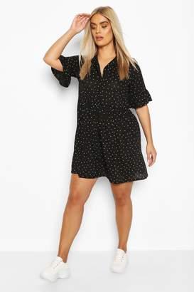 boohoo Plus Shirt Smock Dress