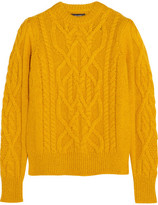 Isabel Marant Gayle Cable-knit Alpaca-blend Sweater - Marigold